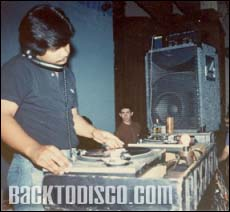 Pegasus' deejay Gabriel on the turntables. Pegasus was the dominant mobile dj system and lights in the late 70s and early 80s. Pegasus set the standards and bar for the future of mobile dj'n the the Southern California area.