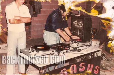Bobby testing the mighty Pegasus System. Pegasus was the dominant mobile dj system and lights in the late 70s and early 80s. Pegasus set   the standards and bar for the future of mobile dj'n the the Southern California area.