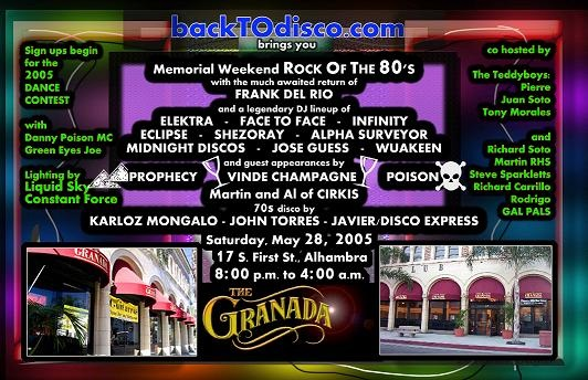 Frank Del Rio's much anticipated return at BTD's Rock Of The 80s in 2005.