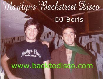 "Marilyn's Backstreet Discotheque dee jays. Marilyn's was known for the freestyle disco battles. One dancer at at time, not challenging nor ""calling out"" anyone in particular, just a demonstration of his or her moves (considered ""whacking"" by today's terminology)."